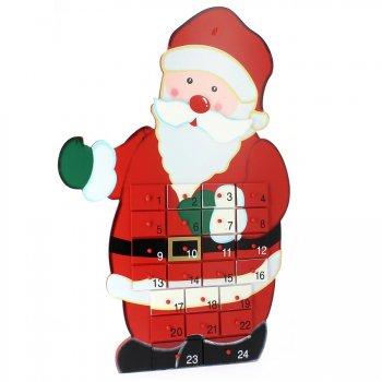 Calendrier de l Avent Père Noël Maxi (50 cm) - Bois
