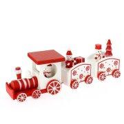 Déco de Table Petit Train de Noël (20 x 5 cm) - Bois