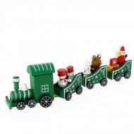 Déco de Table Petit Train Vert (20 x 5 cm) - Bois