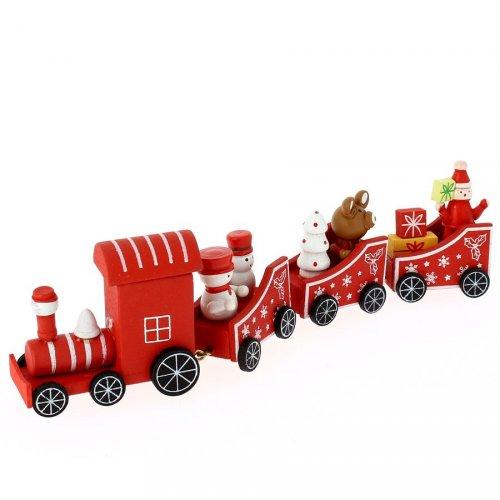 Déco de Table Petit Train Rouge (20 x 5 cm) - Bois