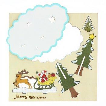 Kit Décor de Noël (16 x 10 cm) - Bois