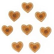 8 Minis Coeurs Autocollants (3 cm) - Résine
