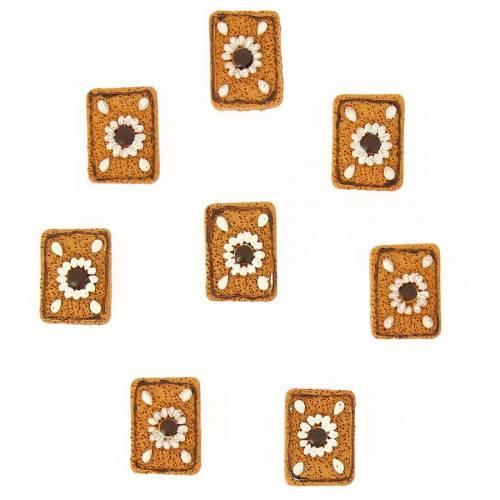 8 Mini Biscuits Autocollants (3 cm) - Résine