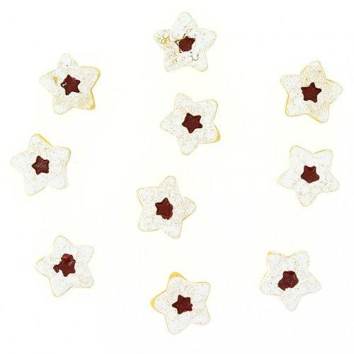 10 Mini Gâteaux Etoiles Autocollants (2,5 cm) - Résine