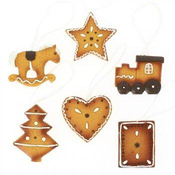 6 Suspensions Biscuits de Noël - Résine