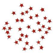 36 Perles Étoiles Rouge/Argent (1,5 cm)