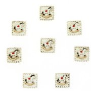 8 Mini Chevaux à Bascule Autocollants (2,5 cm) - Résine