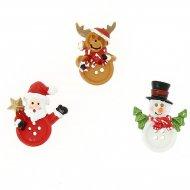 Assortiment 18 Copains de Noël Autocollants (3,5 cm) - Résine
