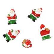 5 Déco Mini Père Noël (3,5 cm) - Résine