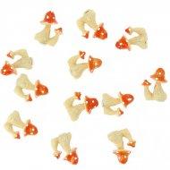 12 Petits Champignons autocollants (3 cm) - Résine