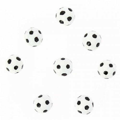 8 Demi Ballons de Foot Autocollants (2 cm) - Résine