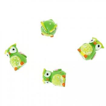 4 Minis Chouettes à poser (2,5 cm) - Résine