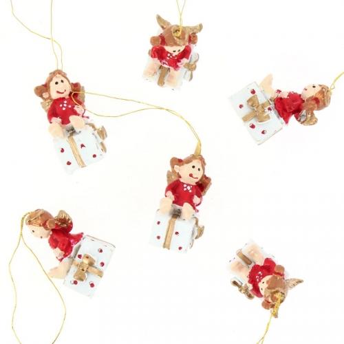 6 Mini Suspensions Anges (3,5 cm) - Résine