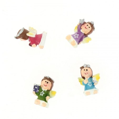 4 Minis Ange ( 2,5 cm) - Résine