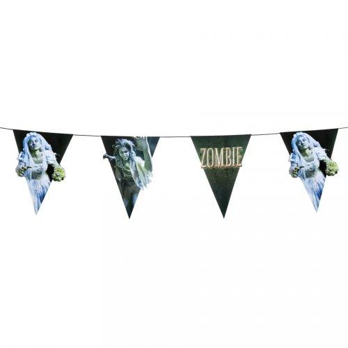 Guirlande Fanions Zombie Party (4m)