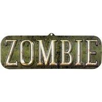 Contient : 1 x Décoration murale Zombie en PVC (55 cm)