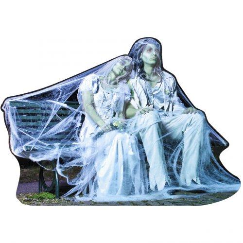 Décoration Couple de Mariés Zombie Party (65 cm)