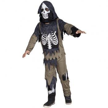Déguisement Squelette Zombie cagoule