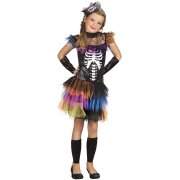 Déguisement Miss Squelette Rainbow