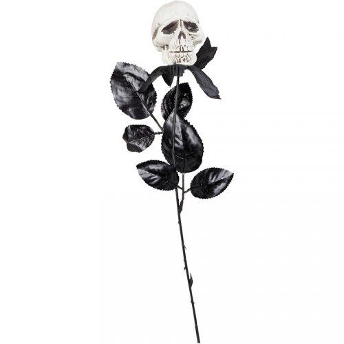 Rose Noire Tête de Mort (45 cm)