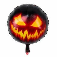 Ballon Gonflé à l'Hélium Citrouille Terrifiante