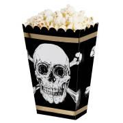 4 Boîtes à Popcorn - Pirate Noir/Or