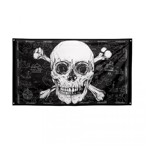 Drapeau Pirate Noir/Or