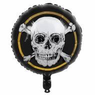 Ballon Gonflé à l'Hélium Pirate Noir/Or