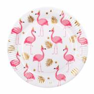 6 Assiettes Flamant Rose
