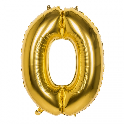 Ballon Géant Or Chiffe 0 - 86 cm