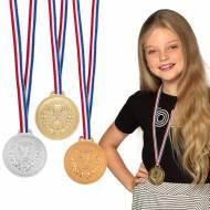 3 Médailles Podium - Or, Argent, Bronze