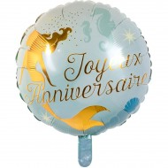 Ballon Gonflé à l'Hélium Sirène