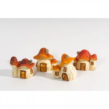 1 Photophore Maison Champignon en Céramique (14 cm)