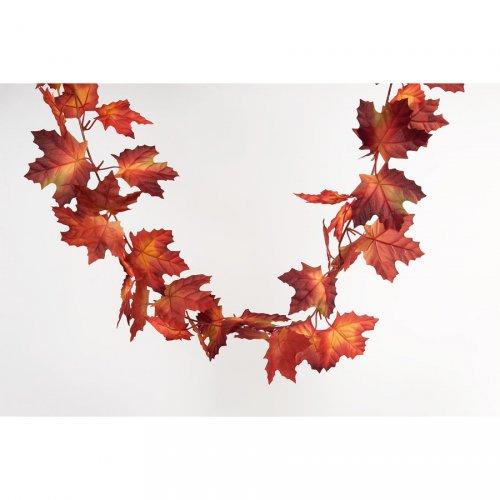 Guirlande Feuilles d Erable Rouge (150 cm)