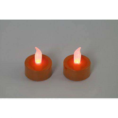 2 Bougies Chauffe-plat LED Citrouille