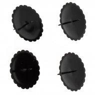 4 Bougeoirs Métal Noir pour Couronne