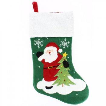 Botte Père Noël - Feutrine et velours