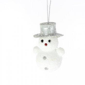 Bonhomme de Neige à suspendre (8 cm)