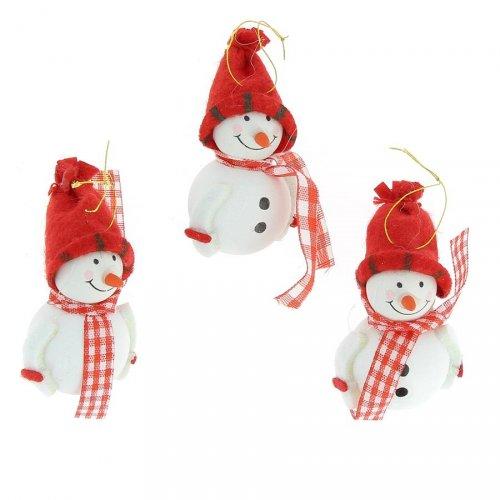 3 Bonhommes des Neiges à suspendre (5 cm)
