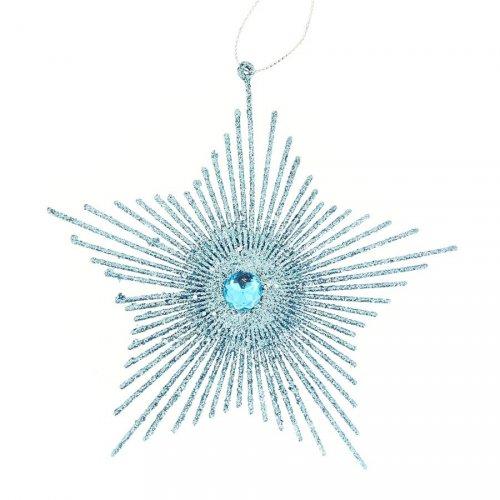 Etoile Pailletée Bleu à suspendre (15 cm)