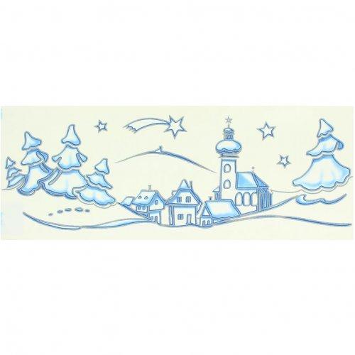 Décors de Fenêtre Village de Noël (42 cm)