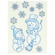 Décors de Fenêtre Bonhommes de Noël (20 cm)