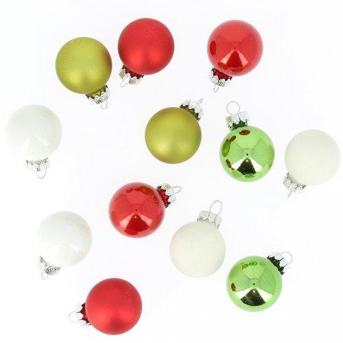 12 Petites Boules Noël Joyeux (3 cm) - Verre