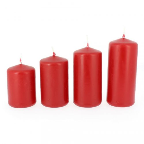 4 Bougies de l Avent - Rouge