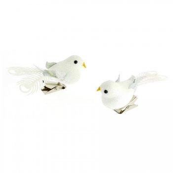2 Oiseaux Paillettes Clip (8 cm)