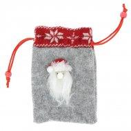 Petit Sac Cadeau Père Noël (15 cm) - Feutrine
