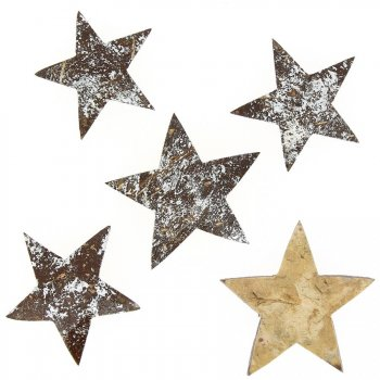 5 Étoiles Argent Brossé (5-6 cm) - Coco naturelle
