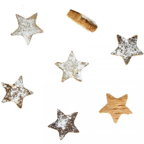 7 Petites étoiles Argent Brossé (3 cm) - Coco naturelle