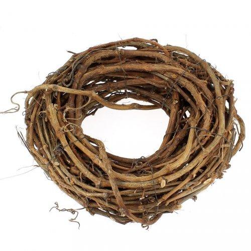 Couronne de Noël Nature (30 cm) - Sarments Bois