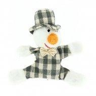 Peluche Magnet Bonhomme de neige (10 cm)